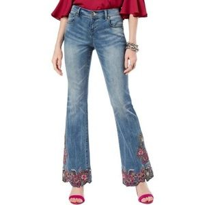 NWT INC Boot Leg Reg Fit embroidered/beaded jean